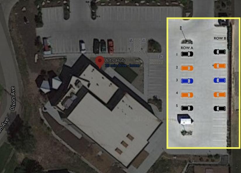 Arts Hub Parking Lot Performance Map